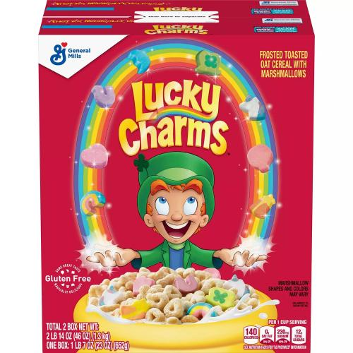 Lucky Charms Unicorn Marshmallow Cereal (23 oz., 2 pk.)
