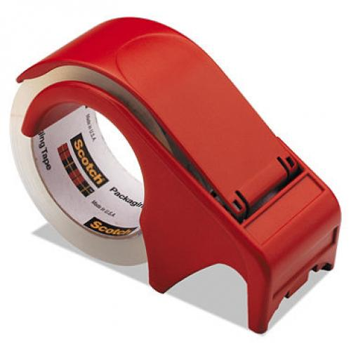 Scotch - Compact and Quick Loading Dispenser for Box Sealing Tape, 3 Core, Plastic - Red