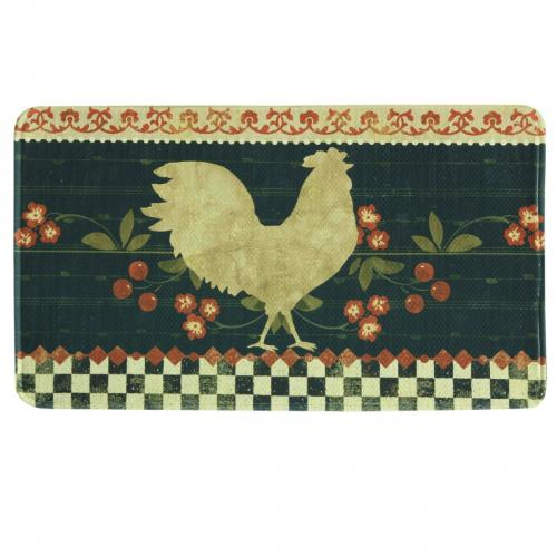 Printed Memory Foam Oversized Mat, Retro Rooster (22 x 35)