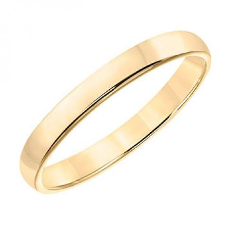3mm Comfort Fit Wedding Band in 14K Yellow Gold