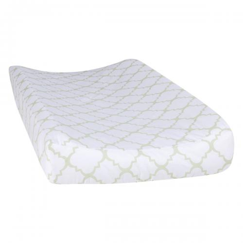 Trend Lab Changing Pad Cover, Sea Foam Quatrefoil