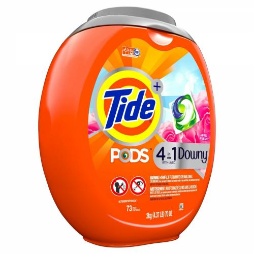 Tide PODS With Downy April Fresh Laundry Detergent Pacs - 73ct