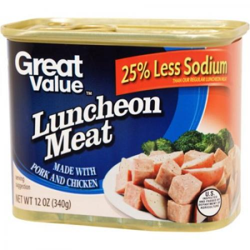 Great Value 25% Less Sodium Luncheon Meat, 12 oz