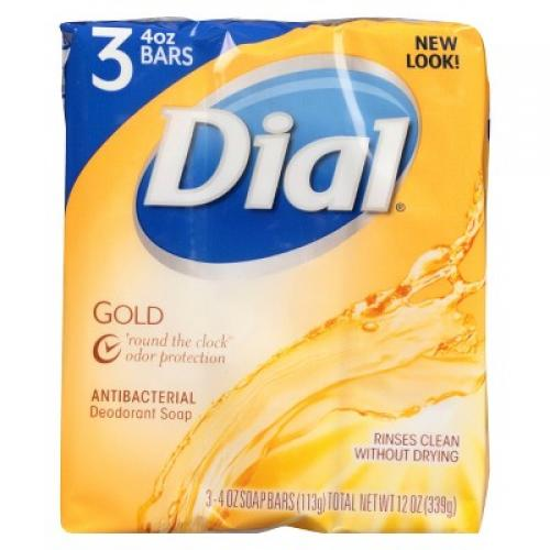 Dial Antibacterial Deodorant Gold Bar Soap