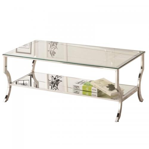 Coaster Rectangular Glass Top Coffee Table - Chrome