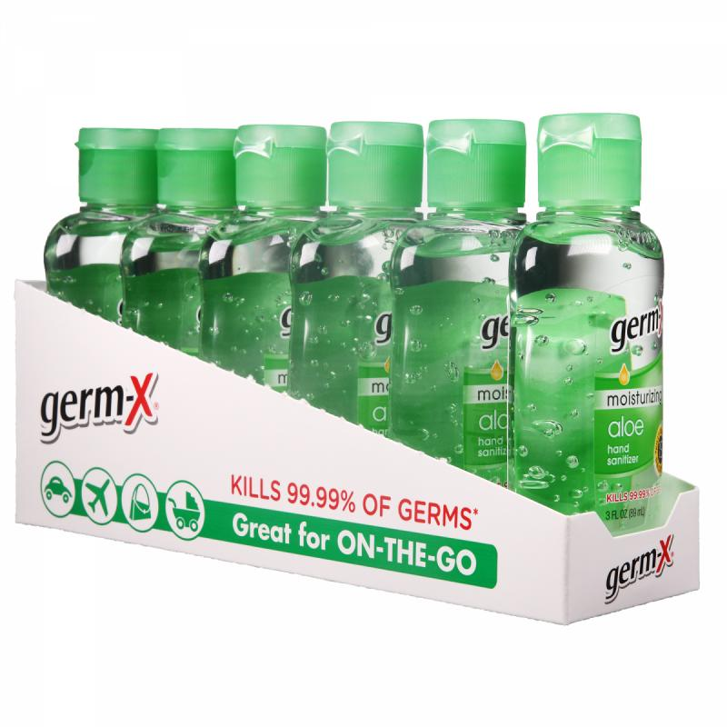 (Pack of 6) Germ-X Moisturizing Hand Sanitizer, Aloe, 3 Oz