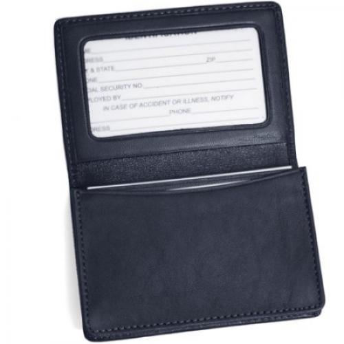 Royce Leather Business Card Case Holder in Genuine Leather