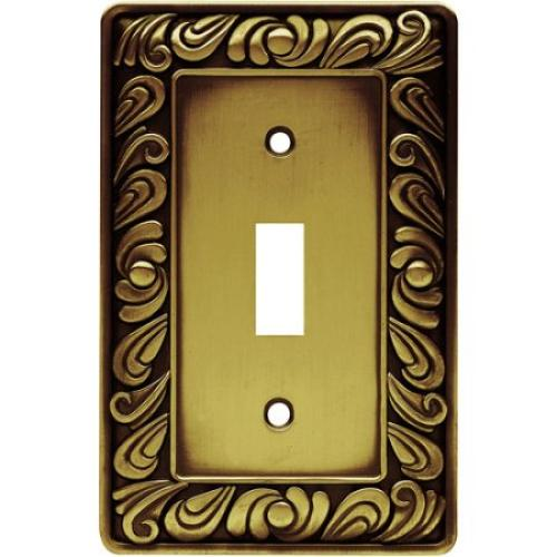 Brainerd Paisley Single-Switch Wall Plate, Available in Multiple Colors