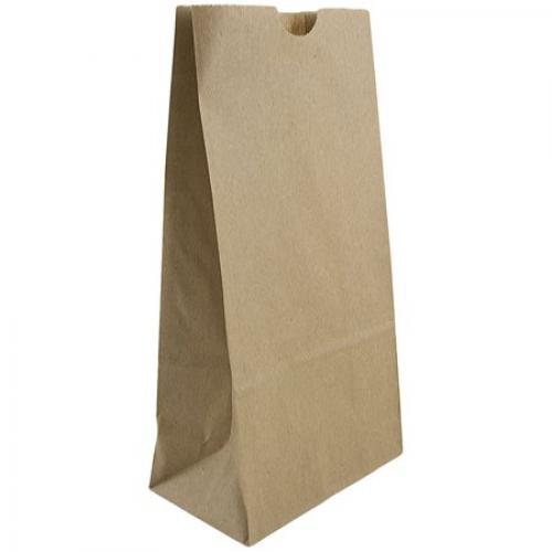 JAM Paper Lunch Bags, Medium, 5 x 9 3/4 x 3, Brown Kraft 100% Recycled, 500/Box