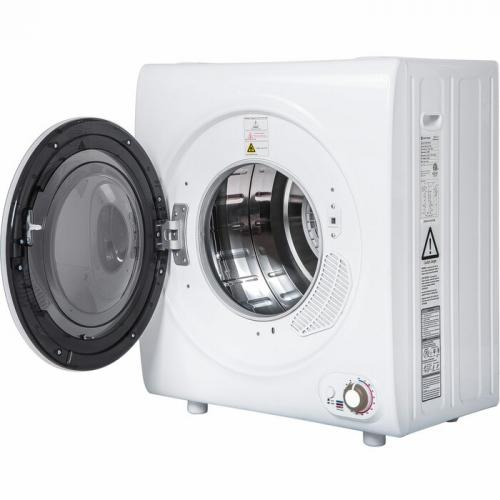 2.65 Cu. Ft. High Efficiency Electric Stackable Dryer in White
