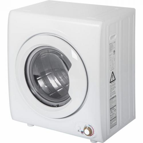 2.65 Cu. Ft. High Efficiency Electric Stackable Dryer with Steam Dry in White