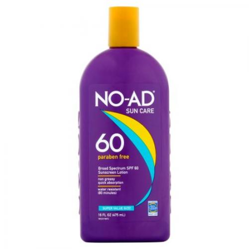 No-Ad Sunscreen Lotion SPF 60, 16 fl oz