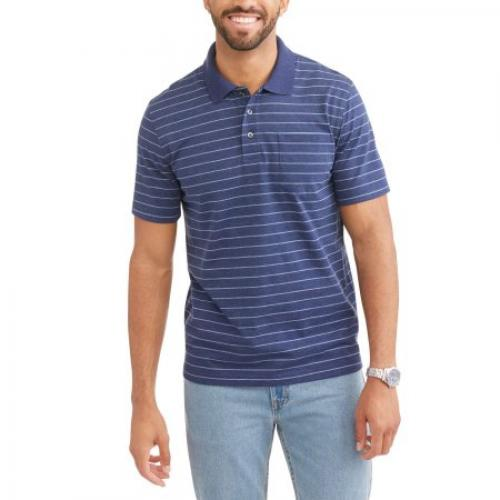 George Big Men's Pattern Jersey Polo