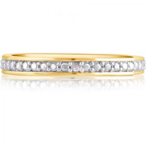 Diamond Accent 14kt Gold-Tone Classic Wedding Band