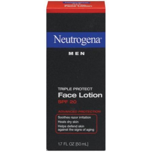 Neutrogena Men Triple Protect Face Lotion Broad Spectrum SPF 20, 1.7 Fl. Oz