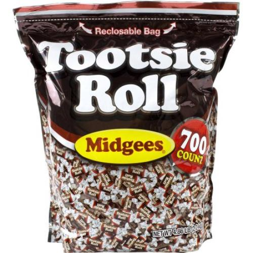 Tootsie Roll Midgees Candy, 700 count, 4.86 lbs