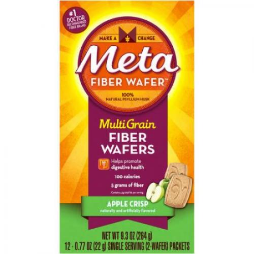 Metamucil Fiber Supplement Wafers, 24 ct, 9.3oz (Choose your Flavor)
