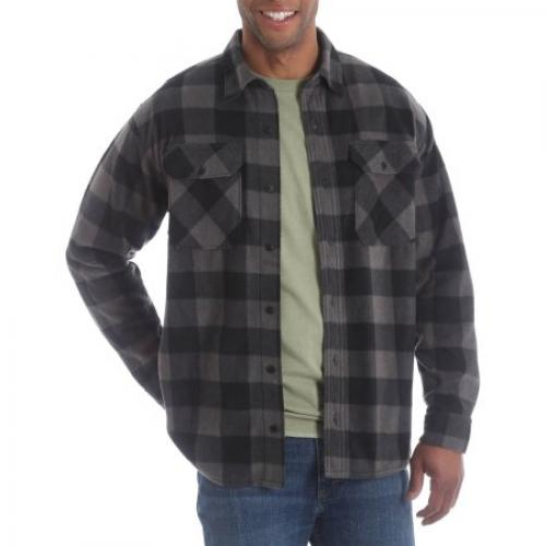 Wrangler Big Men's Long Sleeve Plaid Wicking Fleece Shirt