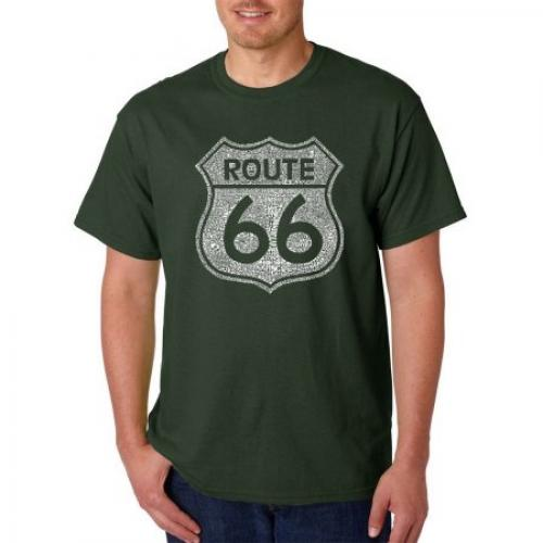 Los Angeles Pop Art Men's T-shirt - Cities Along the Legendary Route 66