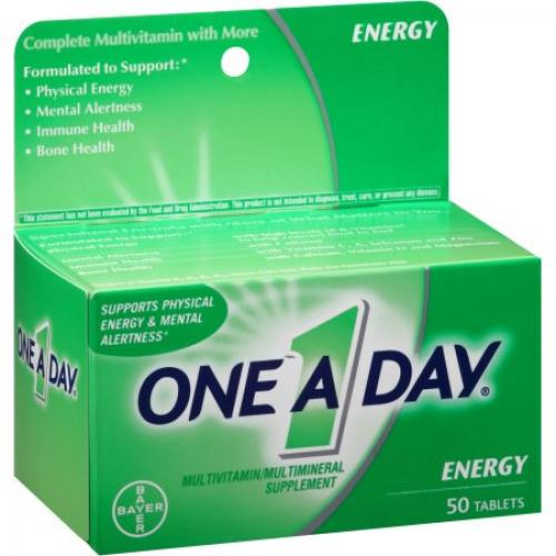 One A Day Energy Multivitamin/Multimineral Supplement, 50 count