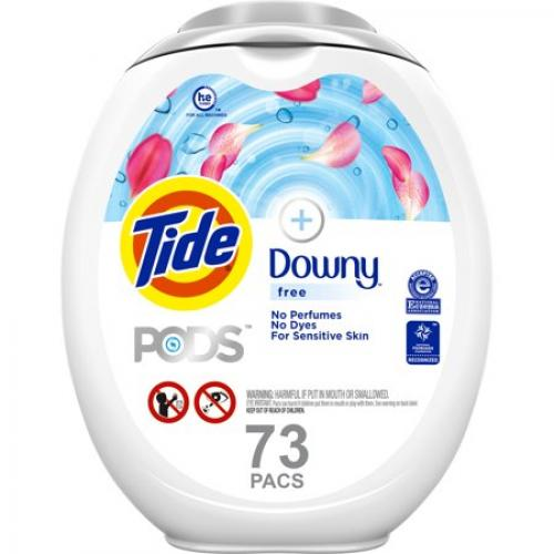 Tide Pods +Downy Free Liquid Laundry Detergent Pacs - 73ct