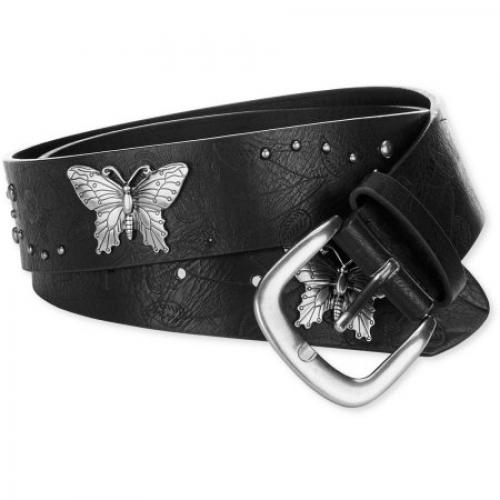 Women's 1 1/2 Butterfly Embellished Belt