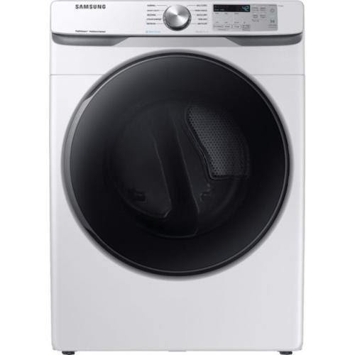 Samsung - 7.5 Cu. Ft. 10-Cycle Electric Dryer with Steam - White