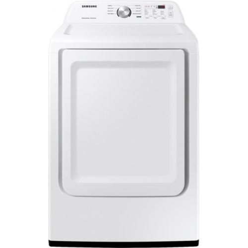 Samsung - 7.2 cu. ft. 8-Cycle Electric Dryer with Sensor Dry - White