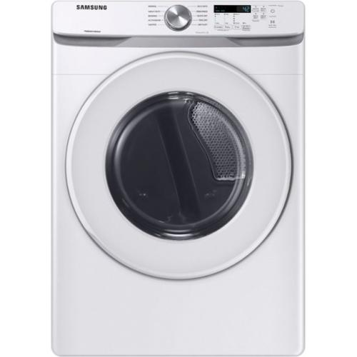 Samsung - 7.5 cu. ft. 10-Cycle Electric Dryer with Sensor Dry - White