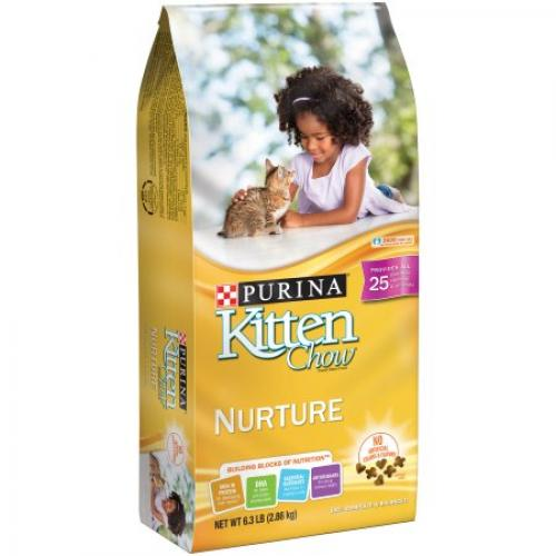 Purina Kitten Chow Nurture Cat Food 6.3 lb. Bag