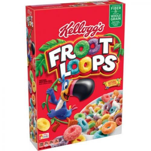 Kellogg's Froot Loops Whole Grain Cereal, 12.2 ounce