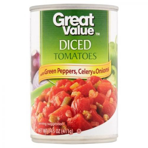 Great Value Diced Tomatoes with Green Peppers, Celery & Onions, 14.5 oz