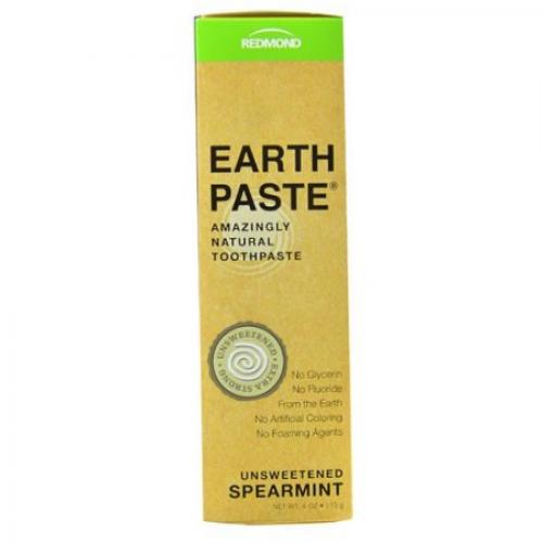 Redmond Earth Paste Natural Toothpaste, Unsweetend Spearmint, 4 Oz