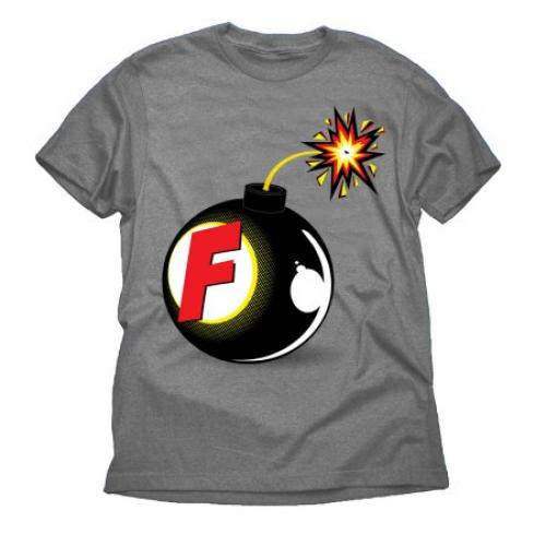 F Bomb Funny Attitude Big Mens Charcoal Graphic Tee Shirt