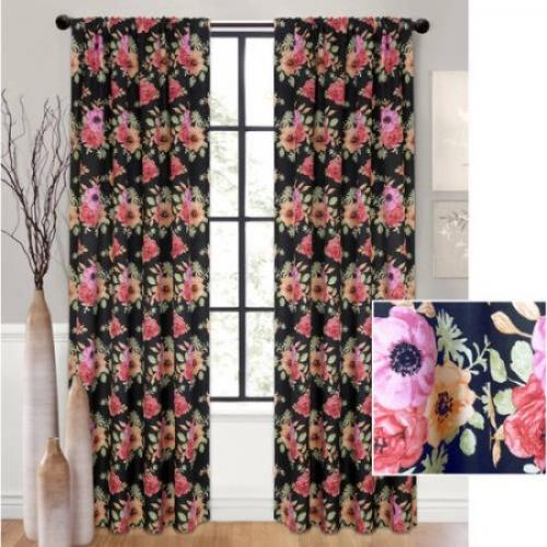 Better Homes and Gardens Floral Blooms Curtain Panel