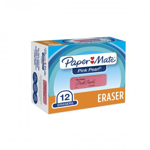 Paper Mate® Erasers | Pink Pearl® Large Erasers, 12 Count