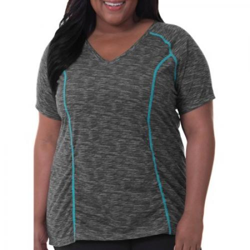 Fit for Me by Fruit of the Loom Women's Plus-Size Shirred Tee