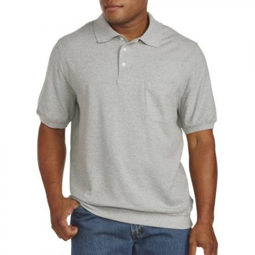 Big & Tall Harbor Bay Banded-Bottom Pique Polo