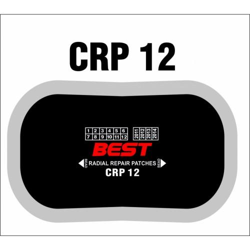 CRP 12 RADIAL PATCH CLOTHBACK 10/BX