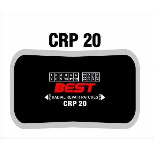 CRP 20 RADIAL PATCH CLOTHBACK 10/BX