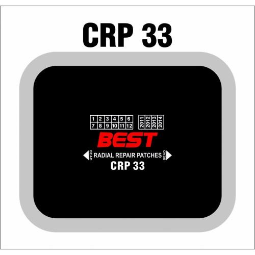 CRP 33 RADIAL PATCH CLOTHBACK 10/BX