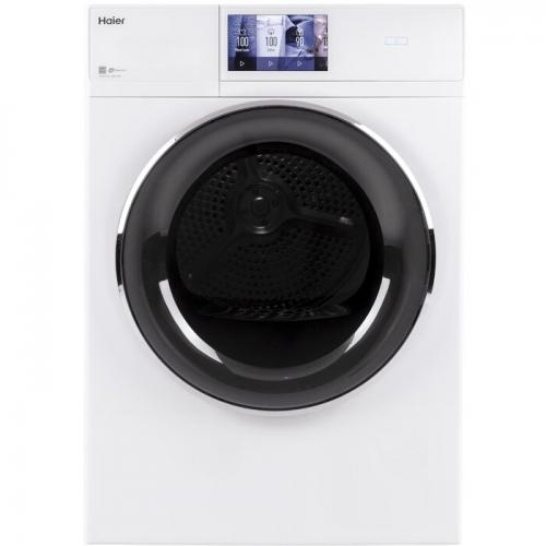 Haier Smart Appliances 4.3 cu. ft. High Efficiency Smart Electric Stackable Dryer With Reversible Door in White