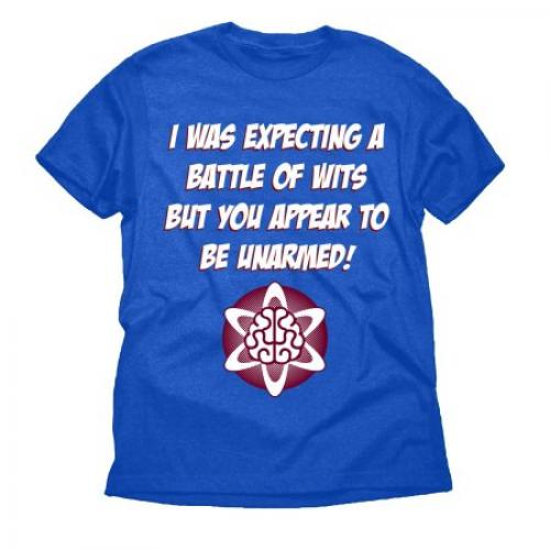 Battle of Wits Nerd Funny Attitude Big Mens Royal Blue Graphic Tee Shirt