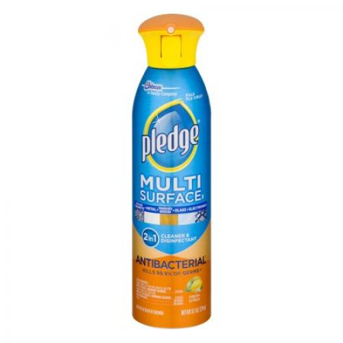 Pledge Multi Surface 2 in 1 Cleaner & Disinfectant Fresh Citrus, 9.7 OZ