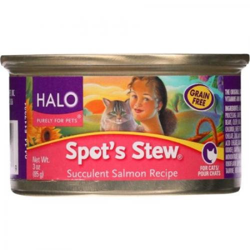 Halo Spot's Stew Succulent Salmon Recipe Canned Cat Food, 3 oz, 12-Pack