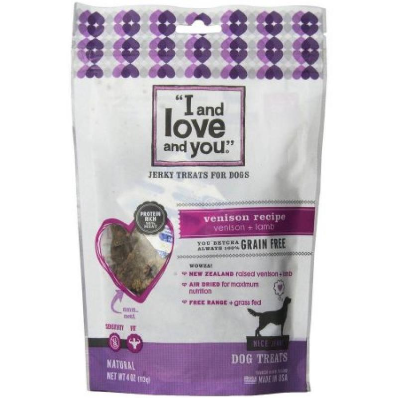 I And Love And You Nice Jerky Venison Dog Treat Biscuit, 4 oz, 6-Pack