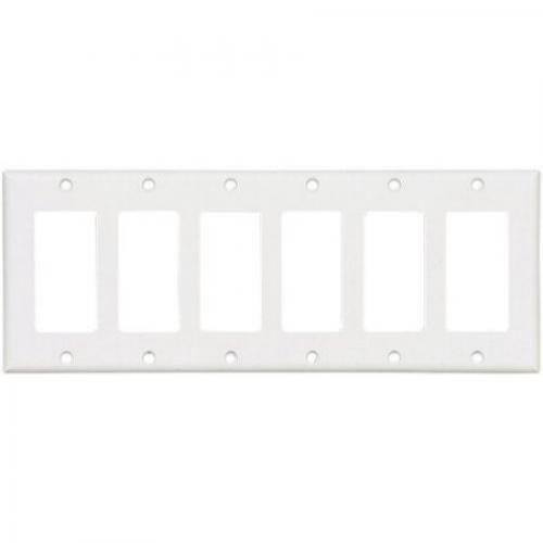 Eagle 2166W White Six Gang Decorator Wall Plate