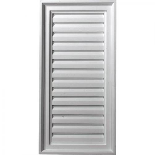 15W x 30H x 2 1/8P, Vertical Gable Vent Louver, Decorative