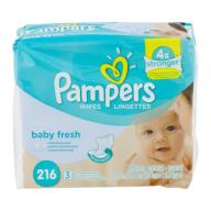 Pampers Baby Fresh Wipes Refills, Scented, 3 packs of 72 (216 count)