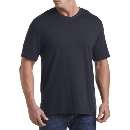 Big & Tall Harbor Bay Wicking Jersey V-Neck Tee
